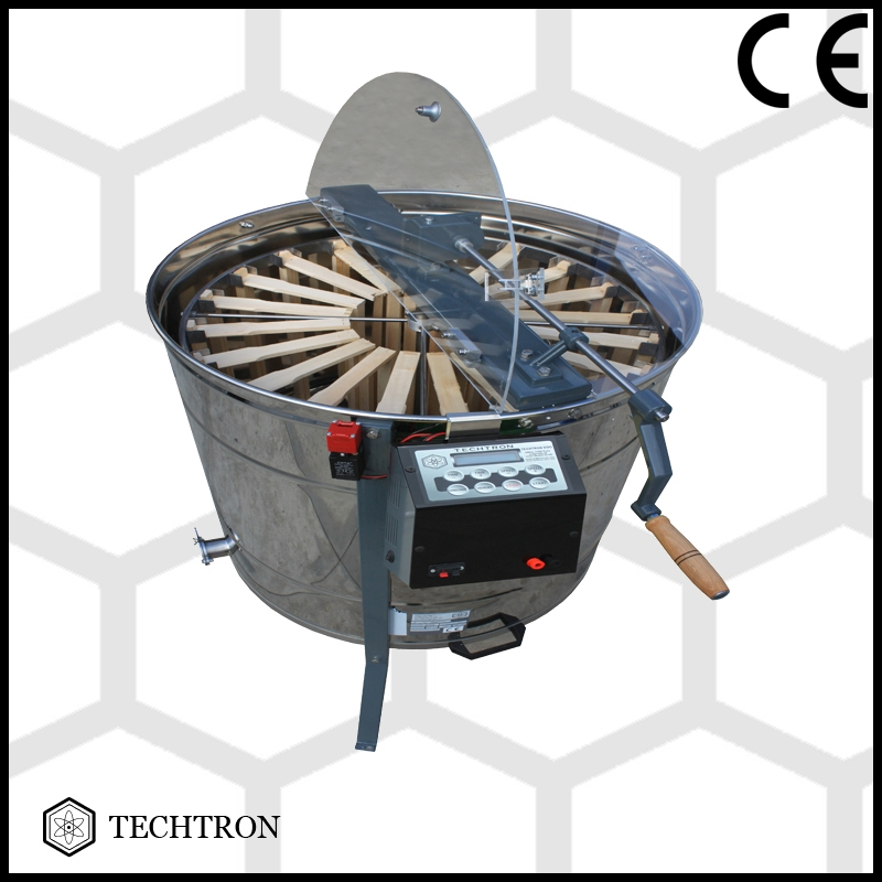Radial honey extractor with 4+20 frames