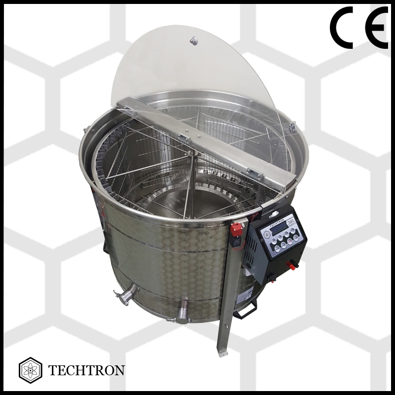 Radial honey extractor with 6+42 frames